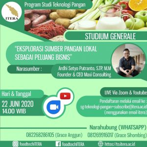 Panduan Studium General via Daring Program Studi Teknologi Pangan ITERA