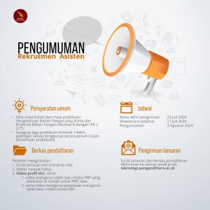 Read more about the article Pengumuman Rekrutmen Asisten Praktikum Semester Gasal Tahun Ajaran 2020/2021